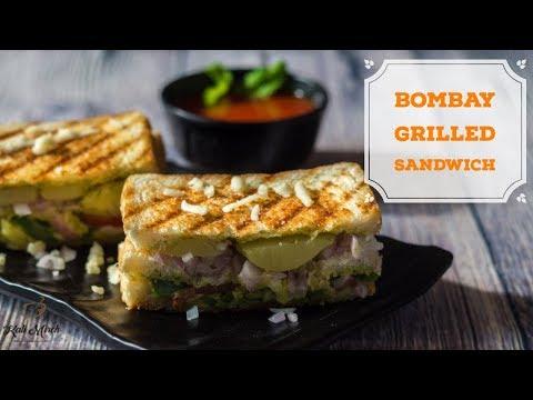 Bombay Grilled Sandwich-How to Make Grilled Sandwich-Mumbai Sandwich Recipe-Kalimirchbysmita-Ep287