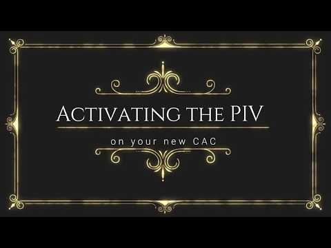 Activating a PIV certificate on a CAC