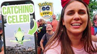 SHINY TRADES & CATCHING CELEBI | Pokemon GO Fest 2018 | ZoeTwoDots