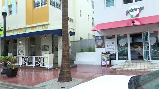 How has the pandemic affected this holiday weekend in Miami Beach?