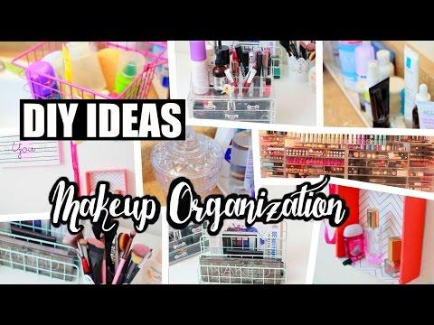 8 Cheap DIY Makeup Organization & Storage Ideas! | NeonRouge73