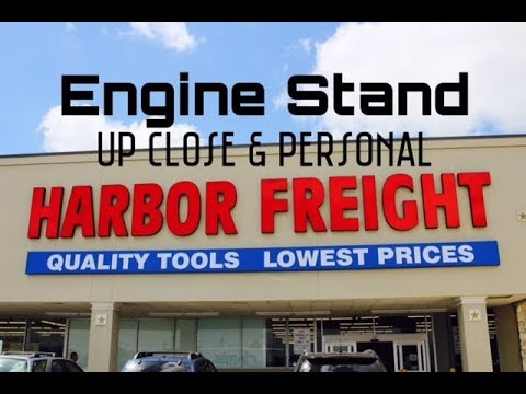 Harbor Freight Engine Stand Review - Rotating 750 pounds Item # 61238