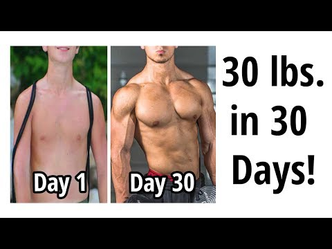 GAIN 30 LBS. OF MUSCLE IN 1 MONTH