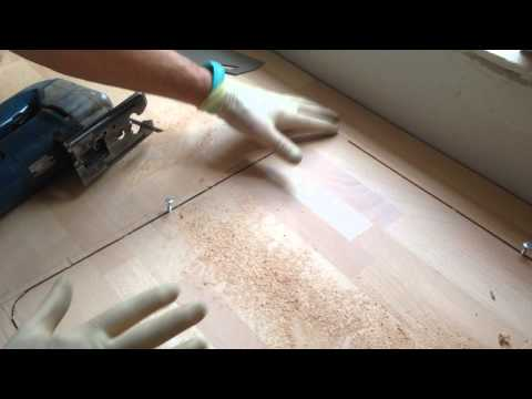 Cutting a hole in worktop for the kitchen sink part 1