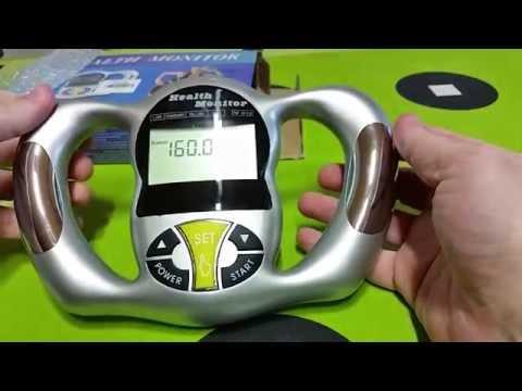 Hand Held Body Fat Analyzer Body Mass Index Measurement