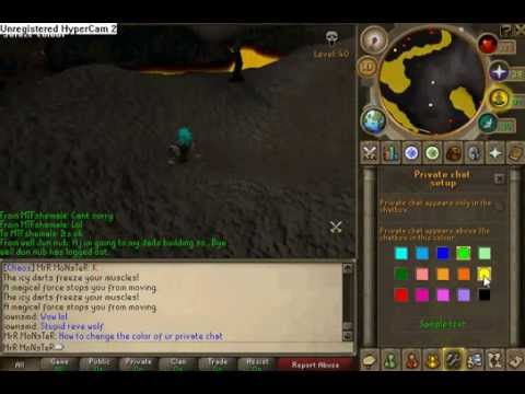 Runescape How To Change Color Of Private Chat