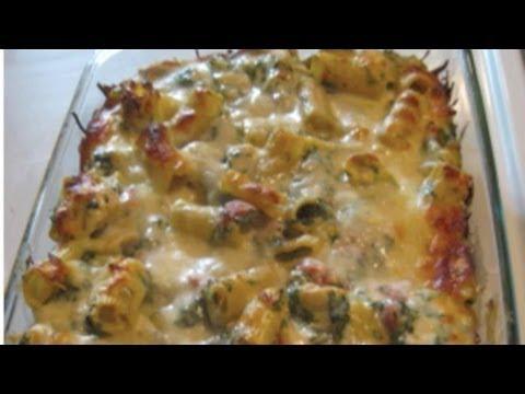 Creamy Chicken/Spinach/Pasta Bake! YUMMY!