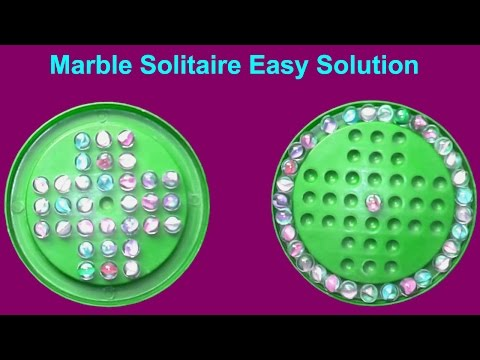 How To Solve A Marble Solitaire