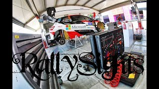 WRC Rally México 2018 Service Park León TOYOTA GAZOO Ott Tänak Jari Matti Latvala Esapekka Lappi