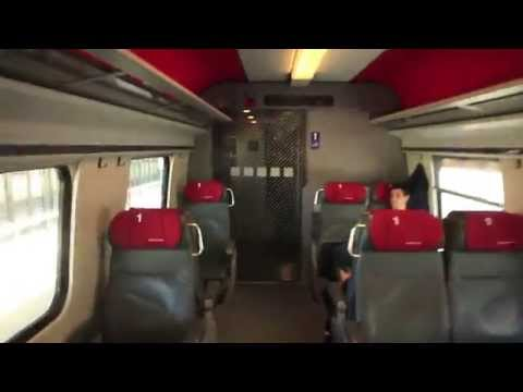 INSIDE SWISS ICN TRAIN ZURICH / GENEVA
