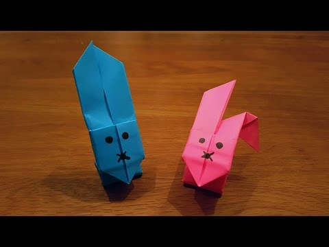How To Make a Paper Jumping Rabbit - Origami