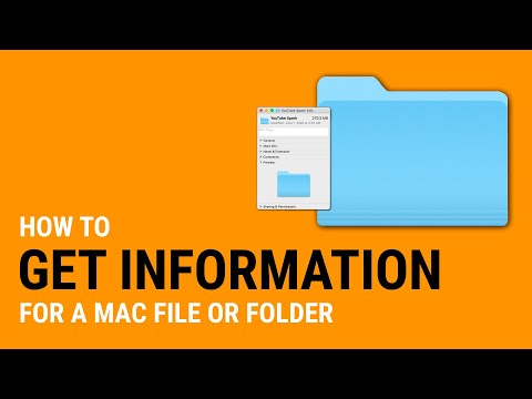 How to get information for a MAC file or folder