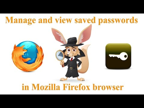 Manage and view saved passwords in Mozilla Firefox browser