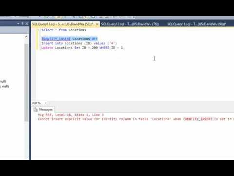 SQL Server Cannot insert explicit value for identity column