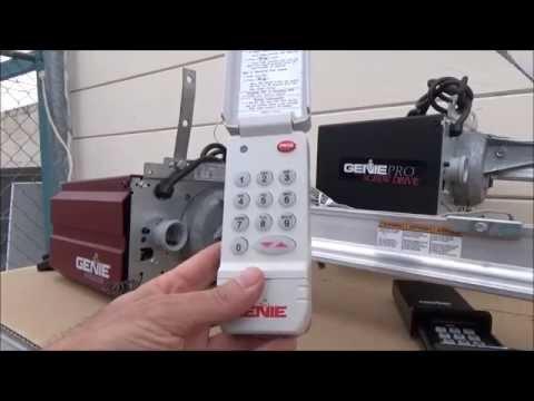 Genie Wireless Keypad ACSD1G Program/Erase-Intellicode