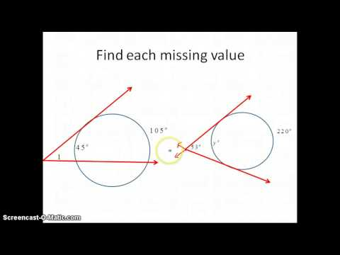 Finding Angle Measures in Circles
