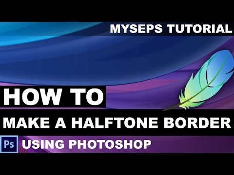 How to make a halftone border using Photoshop
