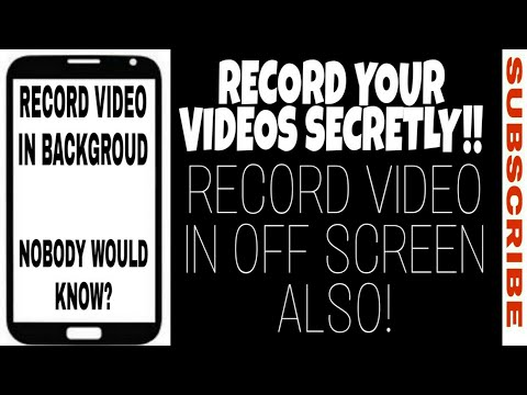 How To SECRETLY Record Video In Your Phone [IN OFF SCREEN ALSO]