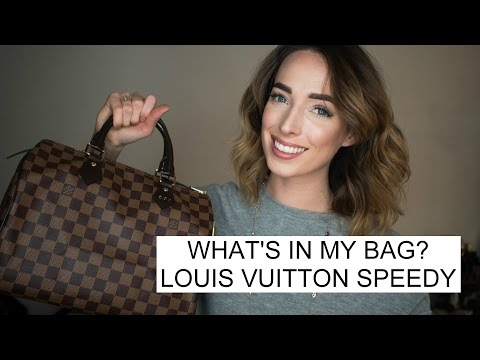 What's in my bag | Louis Vuitton Speedy 30 Damier Ebene & Review | CIARA O'DOHERTY