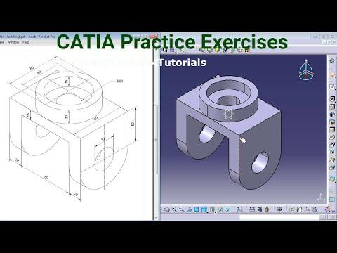 CATIA Training Course Exercises for Beginners - 4   CATIA V5 Part Design Exercises