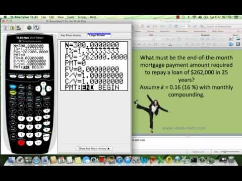 How to find mortgage payment in the TI-84.mp4