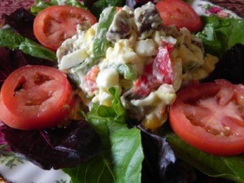 Egg, Sausage & Pepper Salad