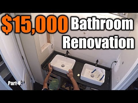 $15,000 Modern Bathroom Renovation 4 | THE HANDYMAN |