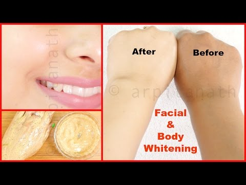 Full Body & Facial Whitening Mask / Ubtan    Fair Skin in 1 Week Guaranteed