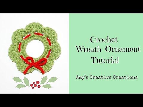 How To Crochet Christmas Ornaments Crochet Christmas Ring Ornaments
