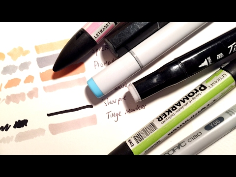 cheap alternatives to copics ♡ comparing 7 types of makers