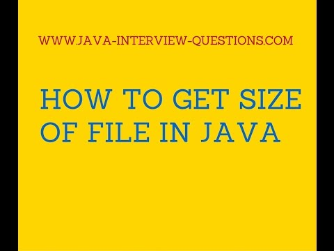 How to get size of file in java?