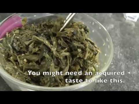 Seasoned mulberry leaves/ 뽕잎나물무침