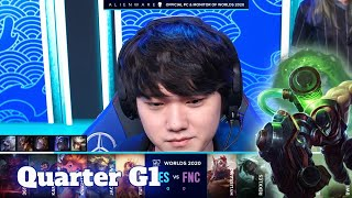 TES vs FNC - Game 1 | Quarter Finals S10 LoL Worlds 2020 PlayOffs | Top Esports vs Fnatic G1 full
