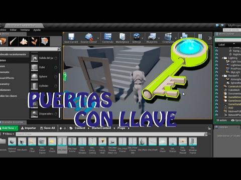 Unreal Engine 4: Tutorial puerta interacción con llave (español)