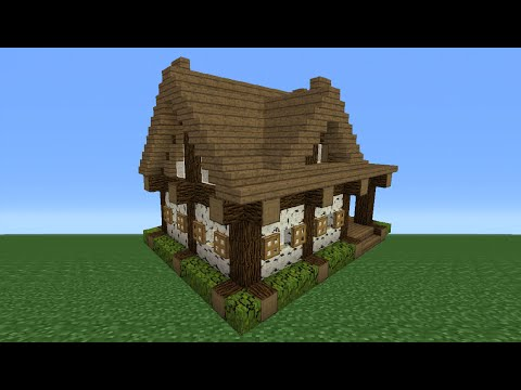 Minecraft Tutorial: How To Make A Small Wooden Cabin