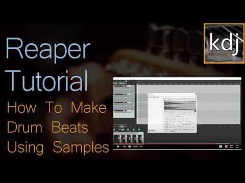 Reaper Tutorial - How To Make Drum Beats Using Samples
