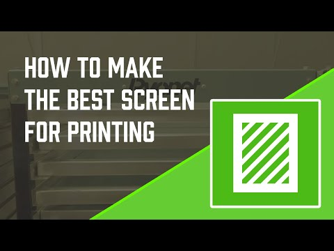 How To Make The Best Screen for Water Based Inks