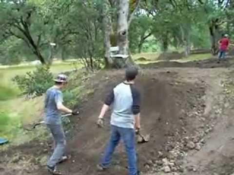 How to Shape a Jump on a BMX Track