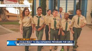 Locals react to Boy Scouts expanding to include girls