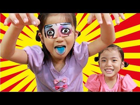 小さいお子様注意!こわいよ〜!!恐顔&恐話カード  Horror face card