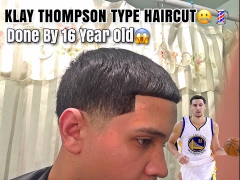 Klay Thompson Type Haircut by 16 YEAR OLD | Self Cut Taper!