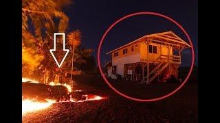 2018 Hawaiian Kilauea Eruption Compilation - House consumed by Lava