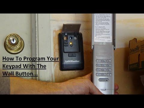 Program LiftMaster 877LM Keypad Via Wall Button!