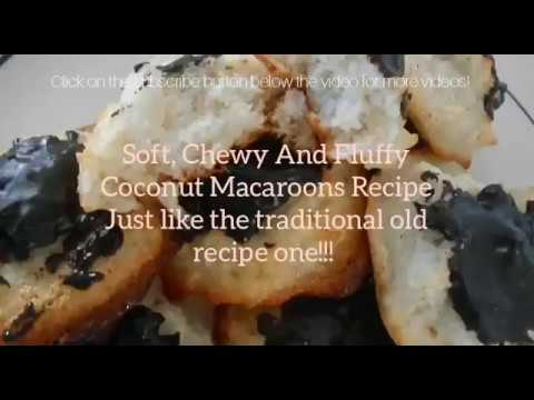 Best Soft Coconut Macaroons Recipe (Traditional, no flour, chewy and fluffy)