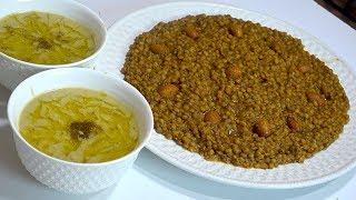 شوربة العدس والفول البيصارة بطريقتي للمتواضعين / وجبات فصل الشتاء