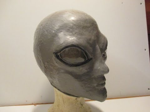 How to: Make a Gray Alien Mask