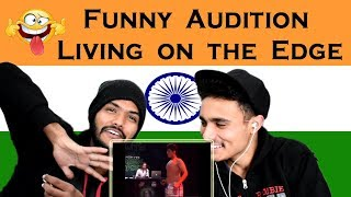 Indian react on Funny Living on The Edge Audition | Waqar Zaka | Swaggy D | EP. 2