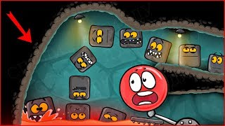 1000 КВАДРАТОВ в Подземелье напали на КРАСНЫЙ ШАРИК ! новая веселая игра ! Мультик   ! Для детей
