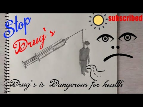 How to draw Stop Drug's Drawing step by step || save Life poster || drawing Tutorial ||