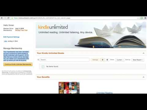 How To Cancel Amazon Kindle Unlimited